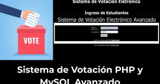 Sistema de Votación PHP y MySQL Avanzado