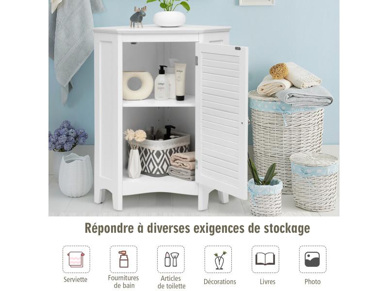 giantex meuble de rangement d angle