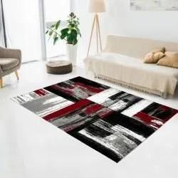 tapis salon et chambre rouge conforama