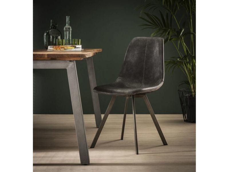 chaise vintage en pu lot de 4 daryl