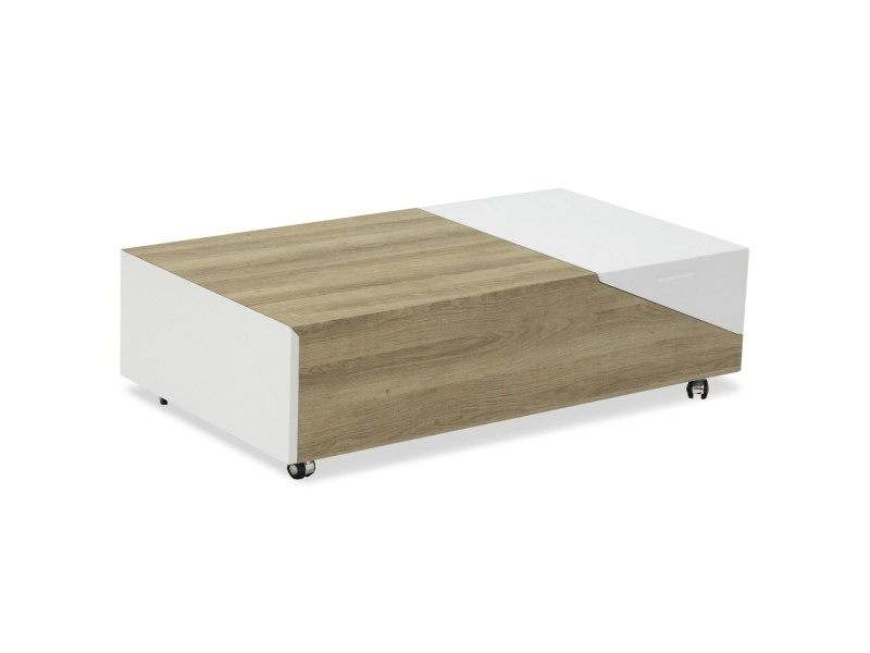 table basse relevable milou chene clair