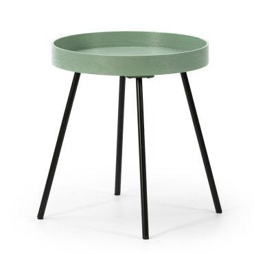 table basse rond e vert conforama