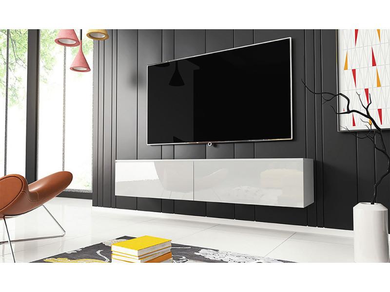 meuble tv kane 140 cm blanc mat