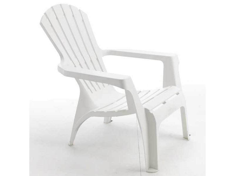 fauteuil de jardin adirondack blanc