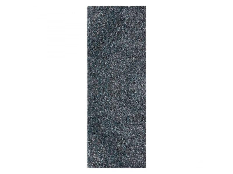 cosy tapis a poils longs 30mm bleu 80 x 250 cm