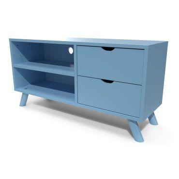 meuble tv bleu conforama