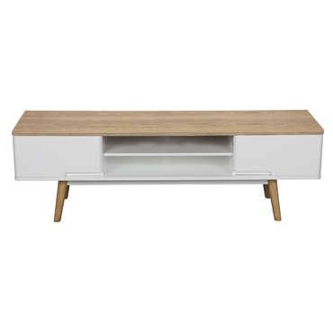 meuble tv winsley coloris blanc frene