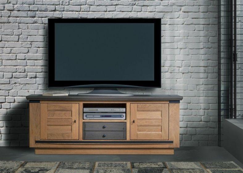 sarah meuble tv 2 portes 1 tiroir et 1 niche