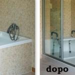 Trasformazione della vasca in un box doccia
