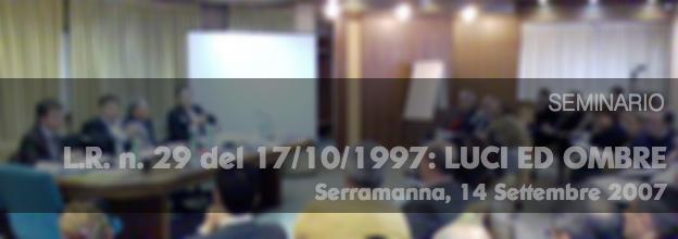 Seminario L.R. n. 29 del 17/10/1997