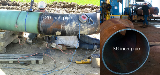 The pipe that burst in Mayflower, Arkansas was 20 inches in diameter; Keystone XL will be 36 inches in diameter.