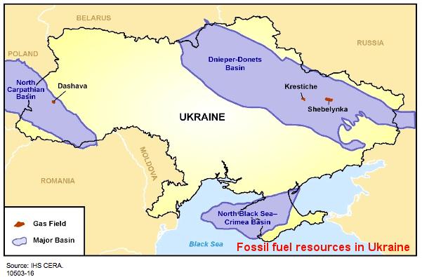 Fossil Fuel resources in ukraine
