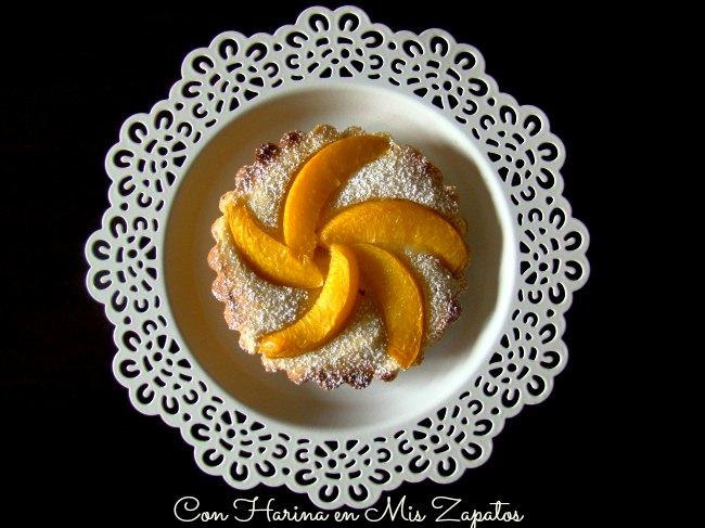 Tartaletas de Almendra y Melocotón