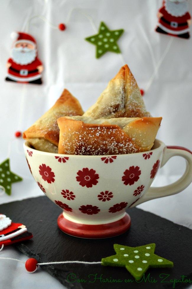 Bricks De Pasta Filo con Higos y Almendra