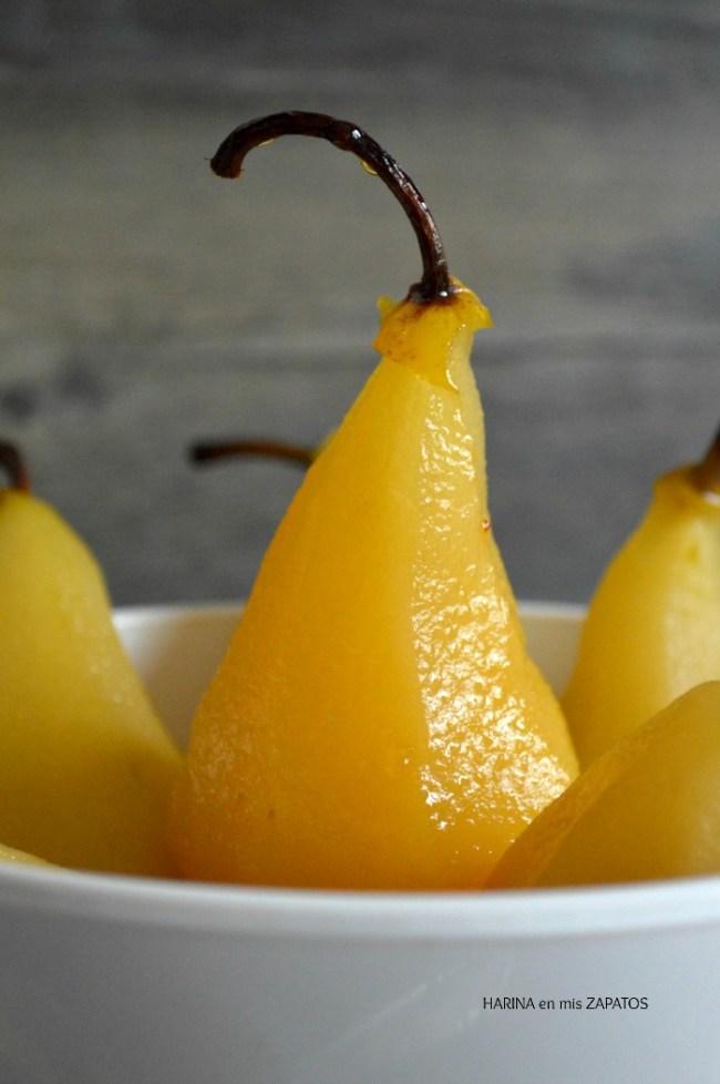 Peras al Calvados