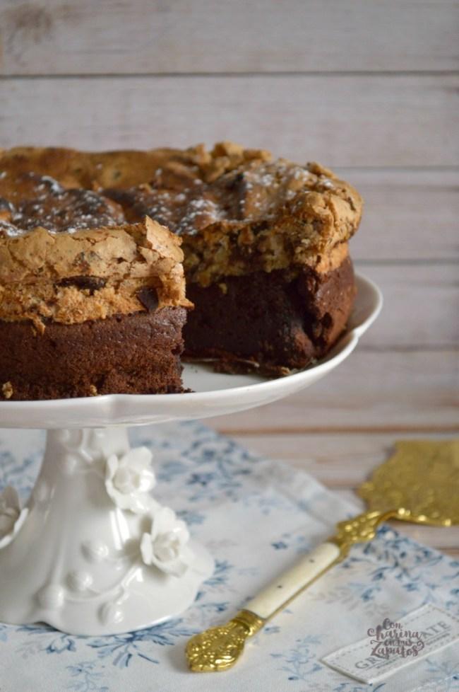 Tarta de Chocolate y Merengue | CON HARINA EN MIS ZAPATOS