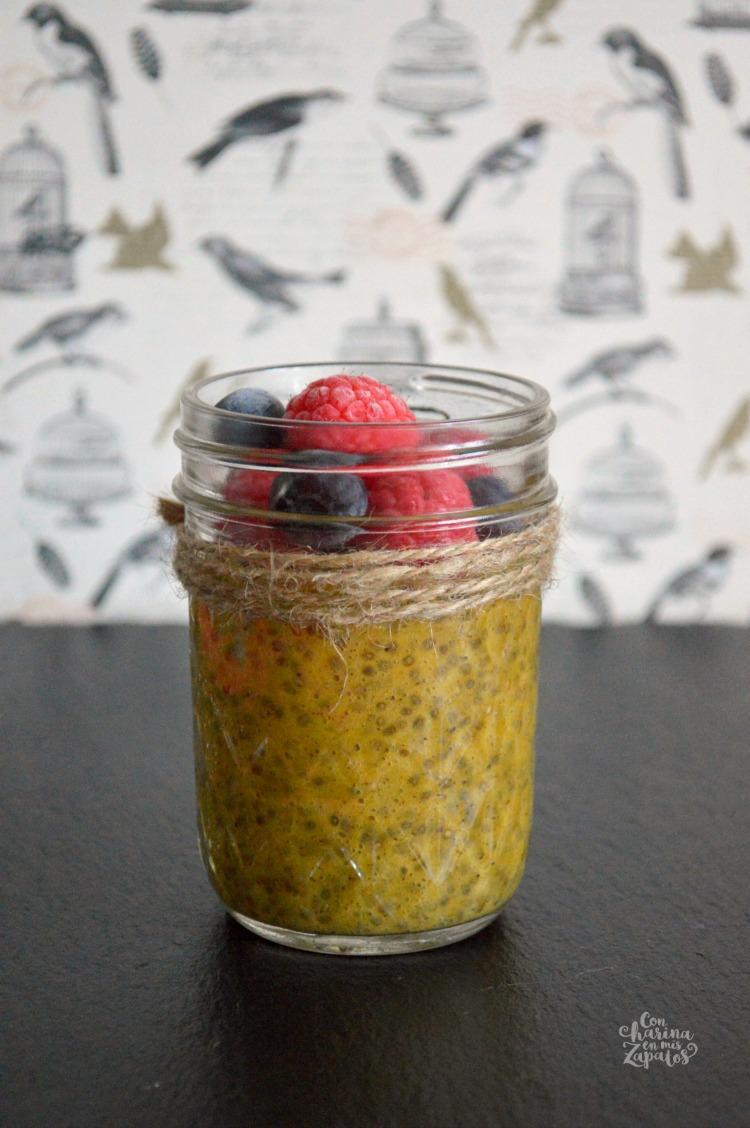 Pudding de Chía y Mango Especiado | CON HARINA EN MIS ZAPATOS