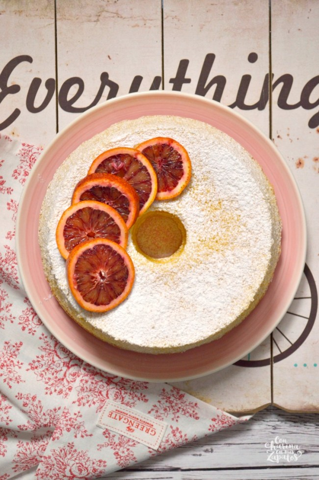 Chiffon Cake de Naranja Sanguina | CON HARINA EN MIS ZAPATOS