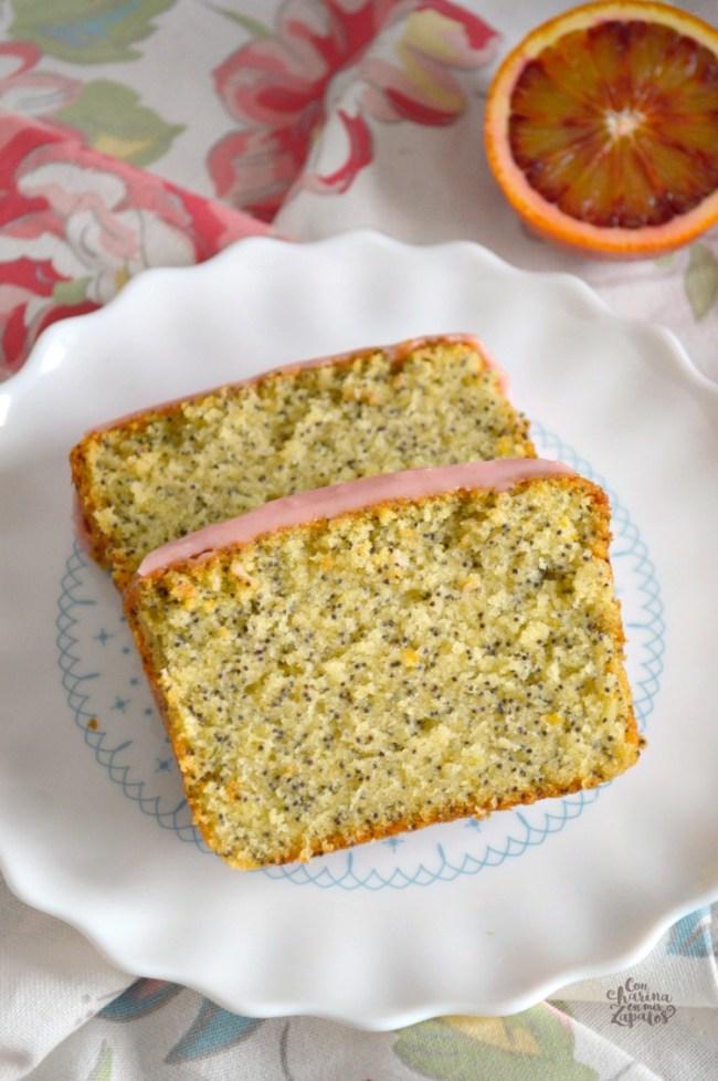 Loaf Cake de Naranja Sanguina y Semillas de Amapola   CON HARINA EN MIS ZAPATOS