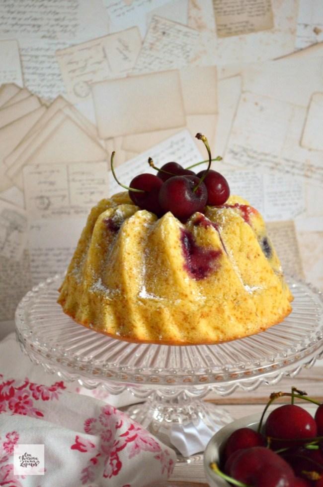 Bizcochos de Yogur y Cerezas | CON HARINA EN MIS ZAPATOS