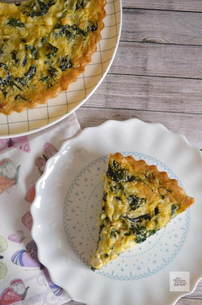 Tarta de Espinacas y Cebolla | CON HARINA EN MIS ZAPATOS