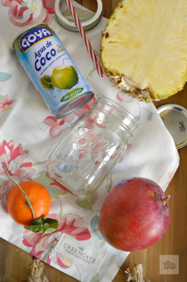 Smoothie de Piña y Mango | CON HARINA EN MIS ZAPATOS