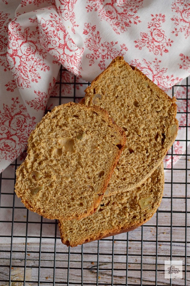 Pan de Café y Nueces en panificadora | CON HARINA EN MIS ZAPATOS