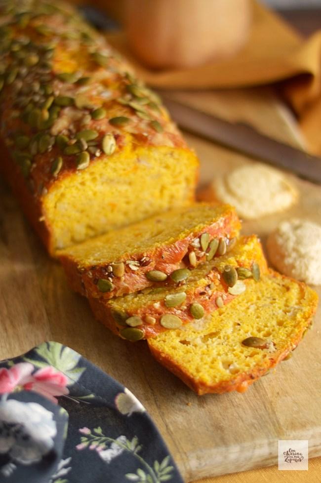 Pan de Calabaza, Bacon y Parmesano | CON HARINA EN MIS ZAPATOS
