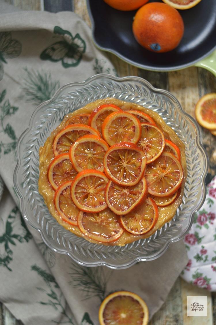 Tarta Tatin de Naranja Sanguina