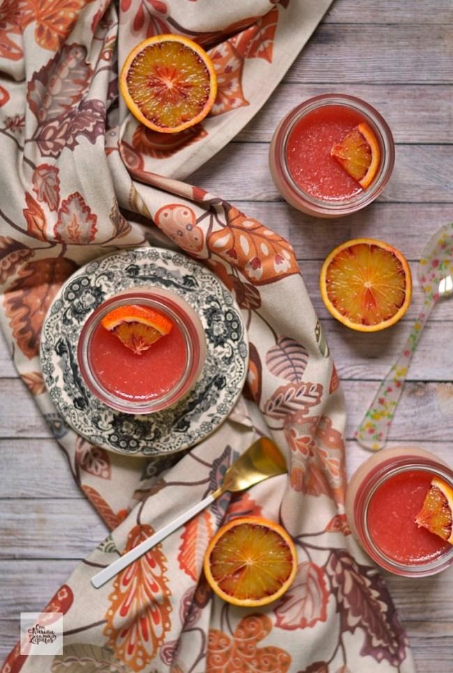 Pannacotta de Naranja Sanguina | CON HARINA EN MIS ZAPATOS