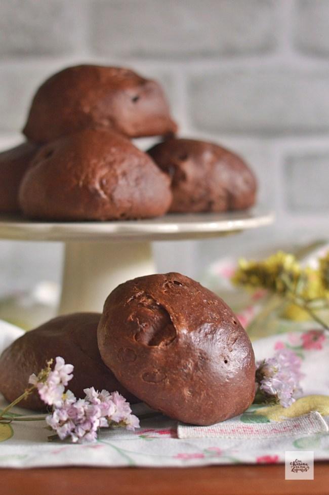Panecillos de Chocolate y Orejones | CON HARINA EN MIS ZAPATOS