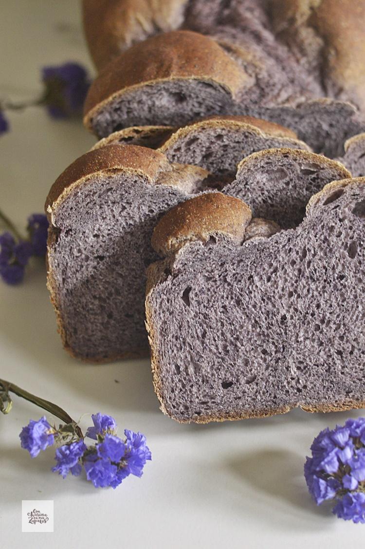 Receta de pan de arándanos.