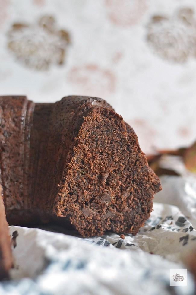 Bizcocho de Chocolate y Calabacín   CON HARINA EN MIS ZAPATOS