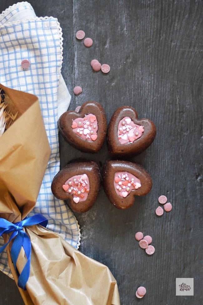 Corazones de Chocolate de San Valentín