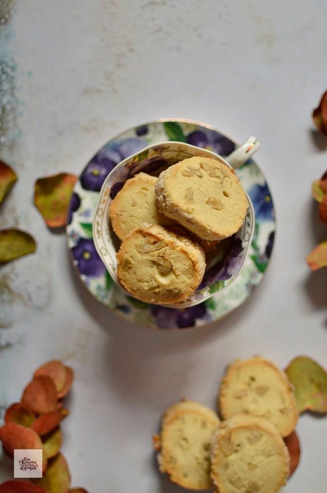 Galletas Shortbread con Nueces | CON HARINA EN MIS ZAPATOS