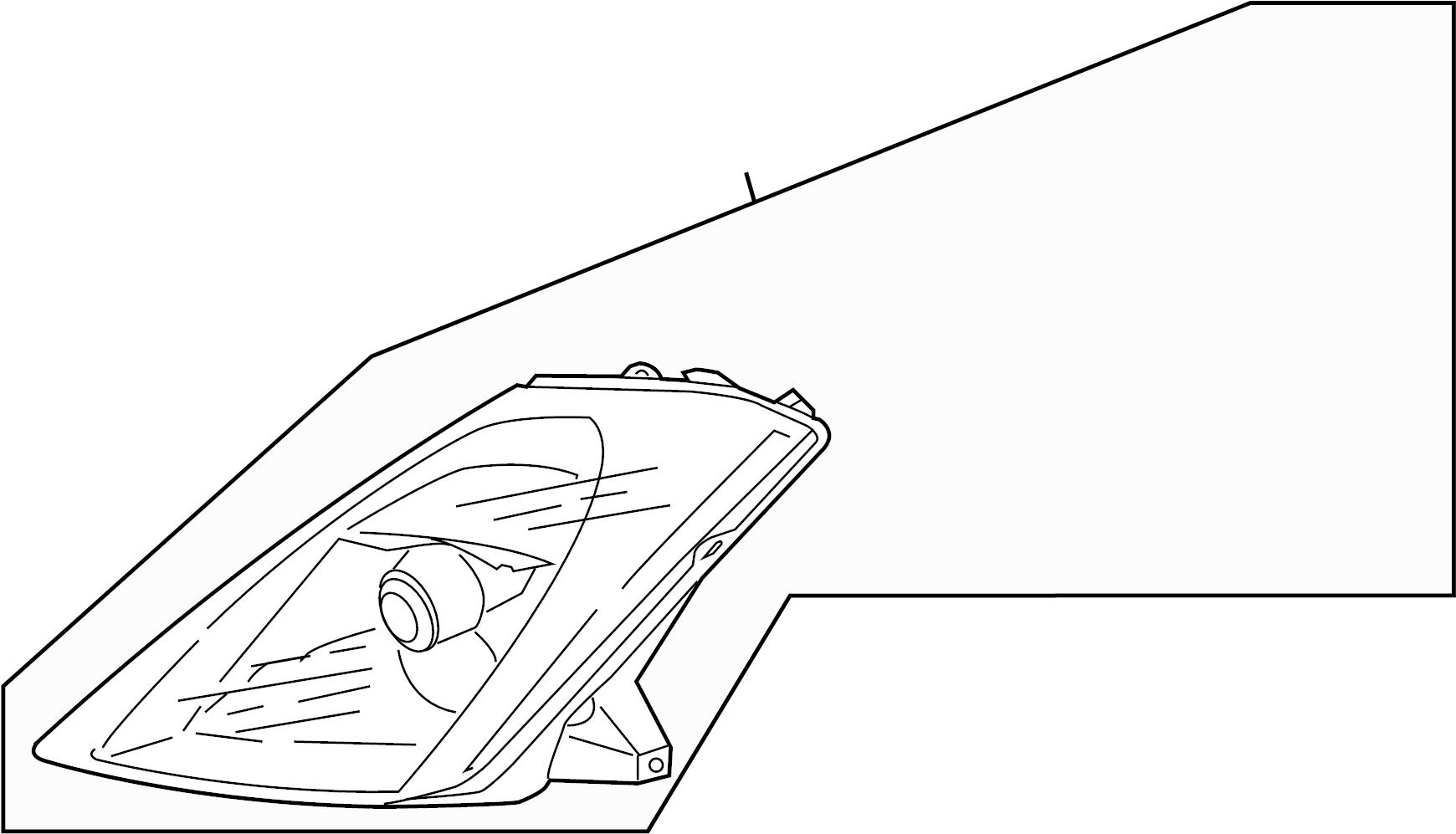 Nissan 350z Headlight Housing Right Lamp