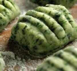 Ñoquis de espinacas y ricota sin harina