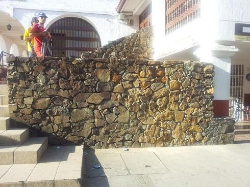 Este es el estado actual del muro