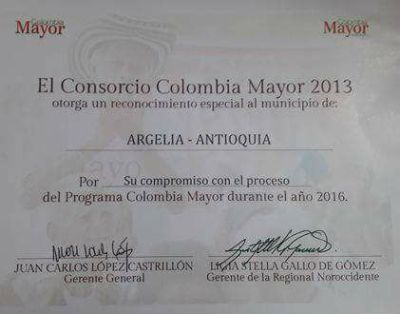 Colombia Mayor Argelia