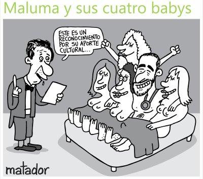 Maluma caricatura