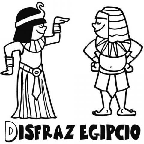 Cleopatra o cleopatra vii fue la última reina del antiguo egipto. Dibujos de disfraces egipcio y Cleopatra para Carnaval de