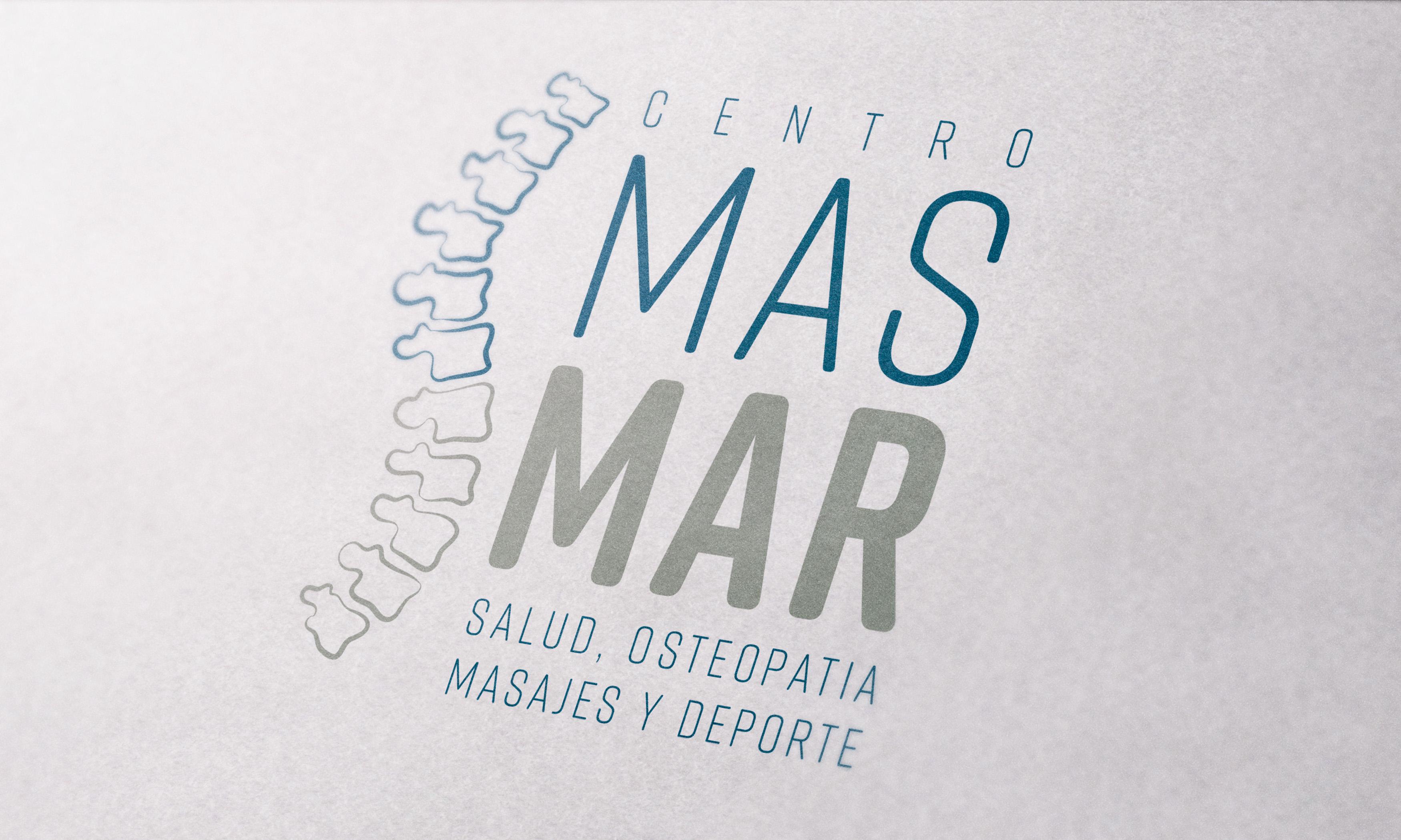 Logo Osteopatia y masaje Zaragoza CentroMasMar - diseño por Conmisojos