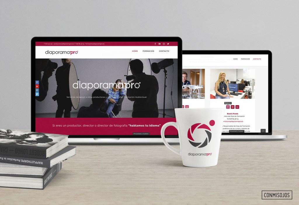 Diseño y desarrollo de la website y rediseño de logotipo de Diaporamapro