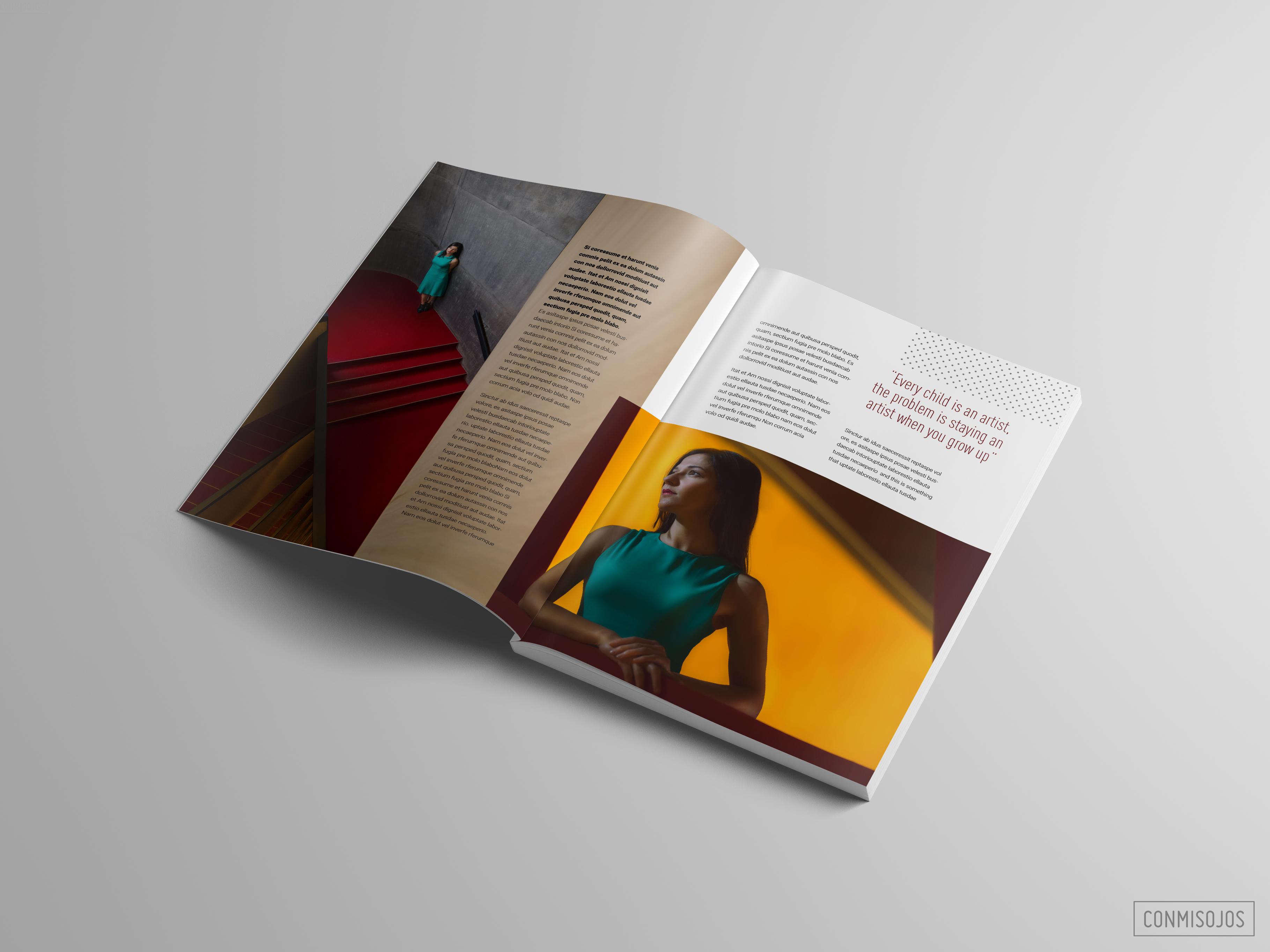 Editorial y Fotografia con la actriz Paula Isiegas - Diseño y fotos: Fernando Sánchez - Conmisojos