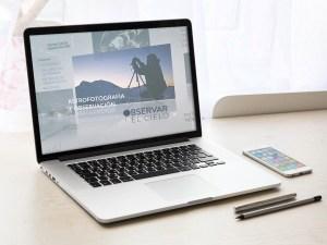 Diseño de logotipo y video entradilla con animación para Observar el Cielo, empresa de astrofotografia.