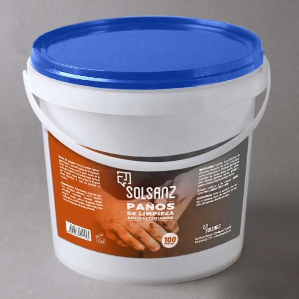 Etiqueta para toallitas limpiadoras Solsanz