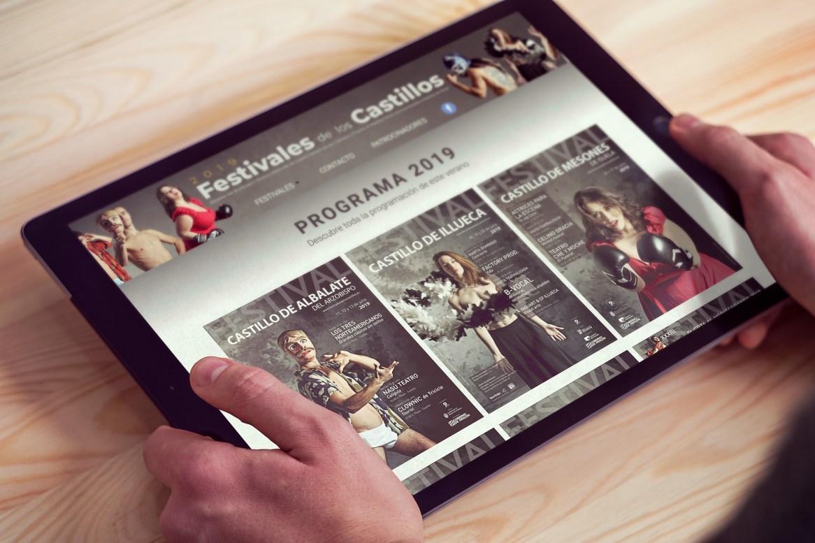 Diseño Web de los Festivales de los Castillos 2019 para Hacedor de Proyectos - Fernando Sánchez Arribas - Conmisojos