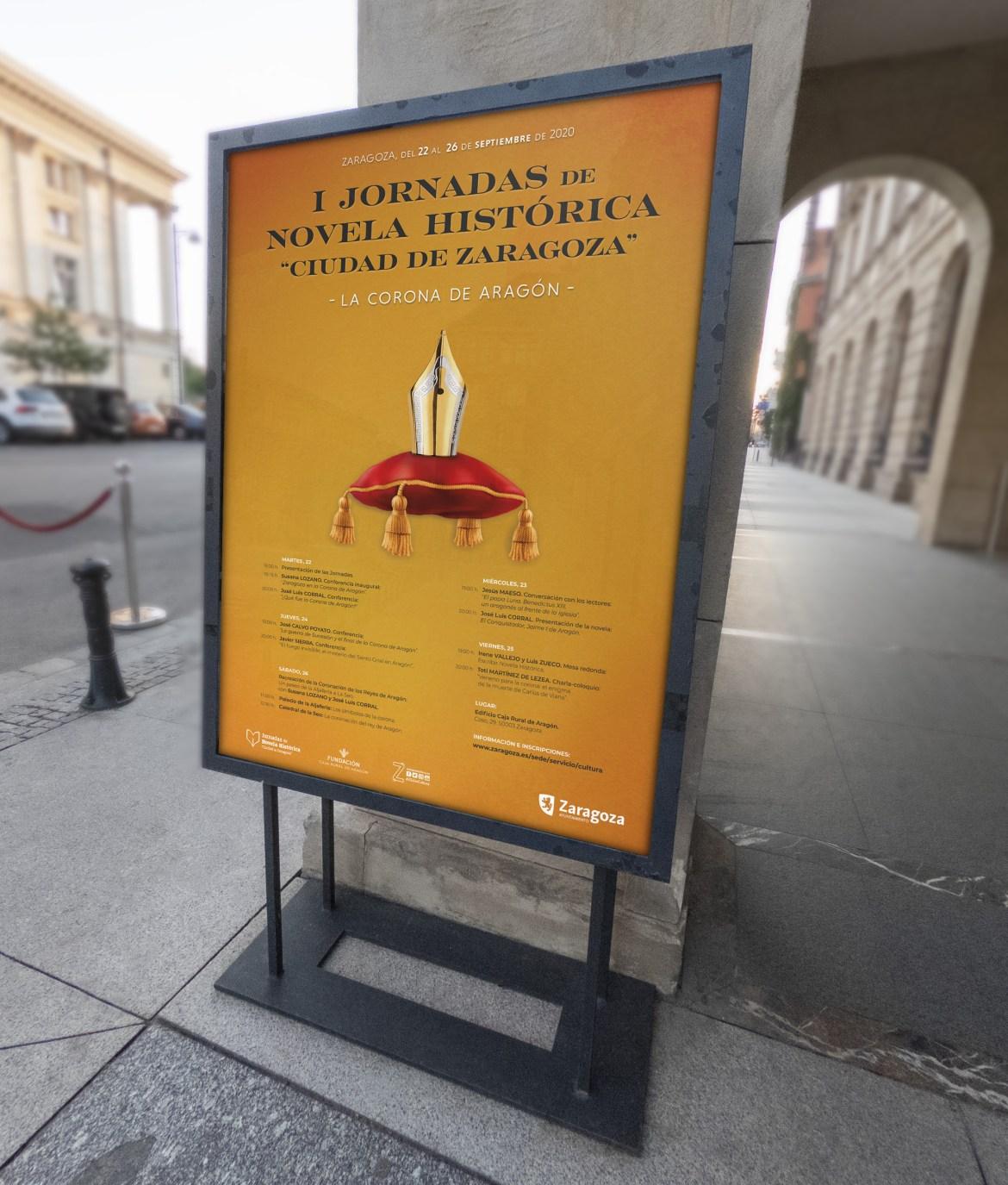 Diseño del cartel para las I Jornadas de Novela Histórica Ciudad de Zaragoza