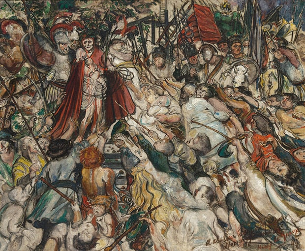Henry de Groux, Le Christ aux outrages (deuxième version), 1893, huile sur toile, 71 x 85 cm, détail ©Galerie Trébosc-Van Lelyveld, Paris