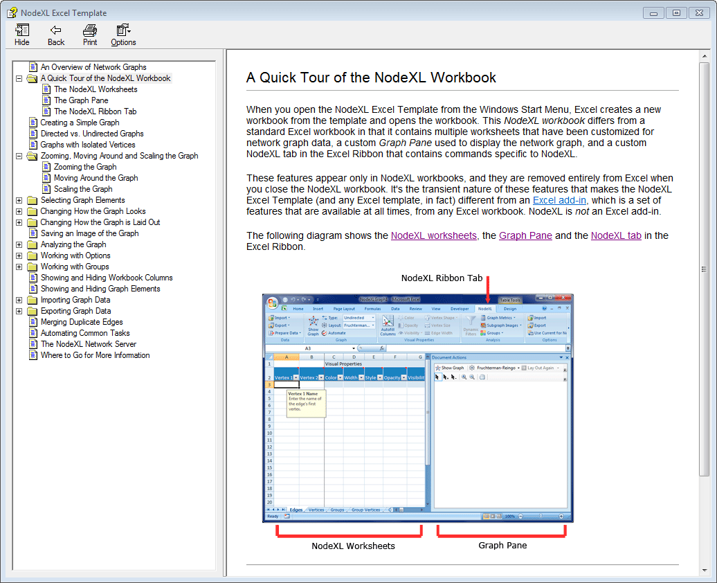 Help File For Nodexl V 172 Social Media Research